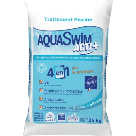 Sel 4 en 1 pour lectrolyse 25kg for Sac sel piscine