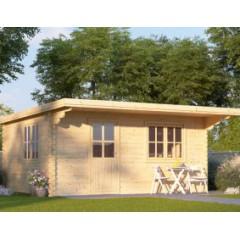 Cabanon de jardin 44mm Dreux 5m x 4 m toit plat
