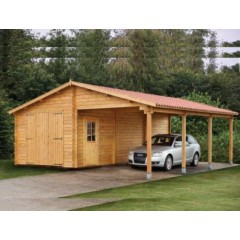 Garage + Carport 4mx6m + 3mx6m