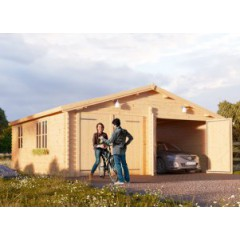 Garage 44mm double 6m x 6m
