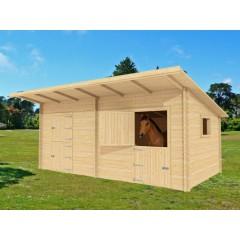 Boxes double pour chevaux 66mm 7m x 3m