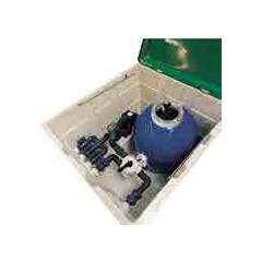 Local technique équipé avec filtration 10m3/h